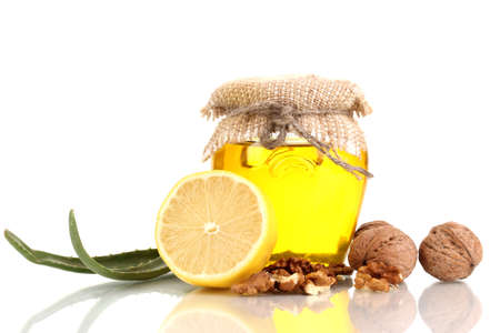 strengthening: Healthy ingredients for strengthening immunity isolated on white