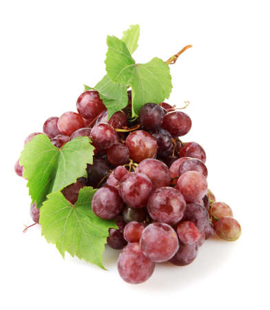 ripe sweet grapes isolated on white  Stock Photo - 17140207