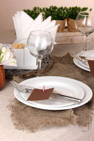 Rustic table setting Stock Photo - 17144339