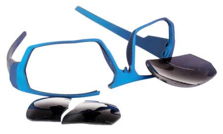 Broken glasses isolated on white Stock Photo - 17139641
