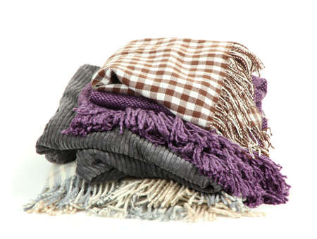 Different plaids isolated on white Stock Photo - 17140300