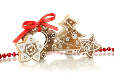 Christmas cookies isolated on white Stock Photo - 17215923