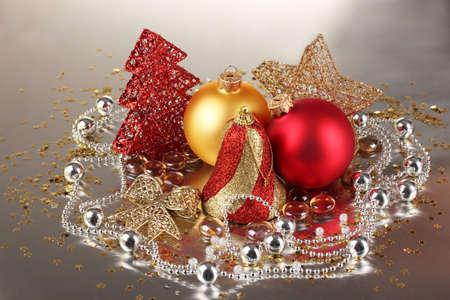Christmas decoration on gray background Stock Photo - 17257132