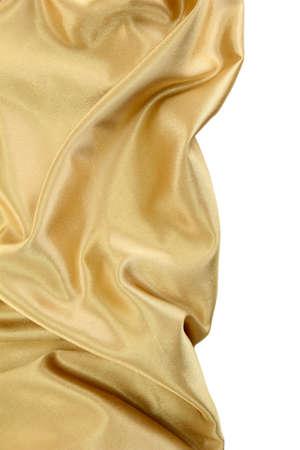 silk fabric: beautiful silk drape, isolated on white