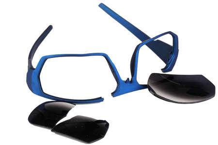 Broken glasses isolated on white Stock Photo - 17256558