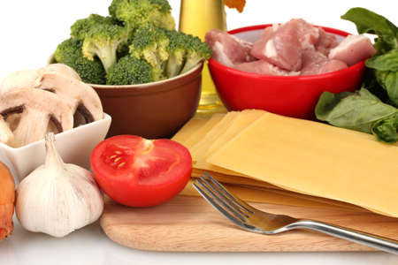 Lasagna ingredients background Stock Photo - 17264034