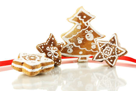 Christmas cookies isolated on white Stock Photo - 17263461