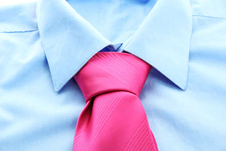 tie on shirt close-up photo