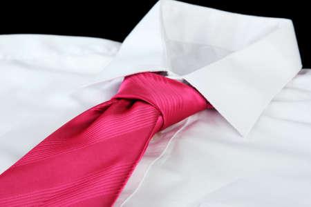 tie on shirt on black background Stock Photo - 17263858