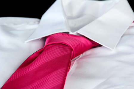 tie on shirt isolated on black Stock Photo - 17263978