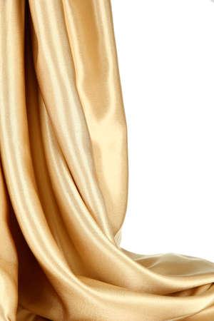 tela seda: pa�o de seda hermoso, aislado en blanco