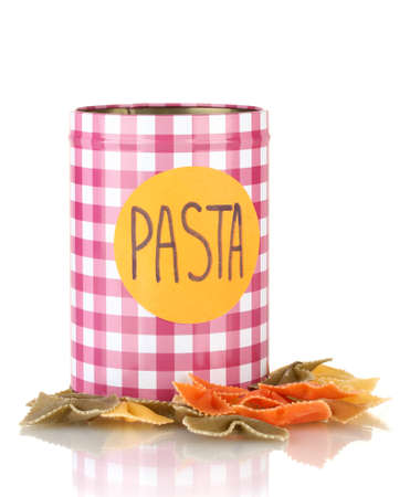 Pasta container isolated on white photo