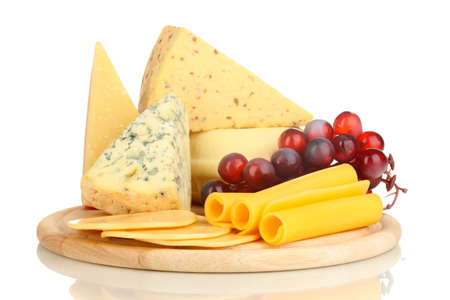 Various types of cheese isolated on white Stock Photo - 17291475