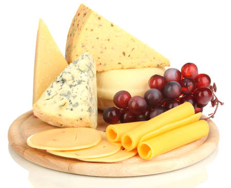 Various types of cheese isolated on white Stock Photo - 17291448
