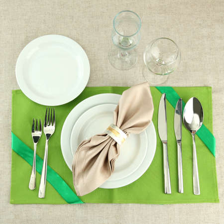 holiday table setting, close up Stock Photo - 17292737