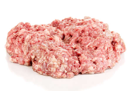 raw ground meat isolated on white Stock Photo - 17362615