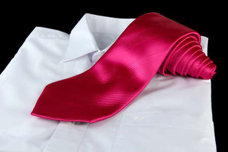 pink tie on grey background Stock Photo - 17362742