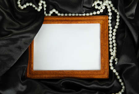 empty frame on beautiful silk photo
