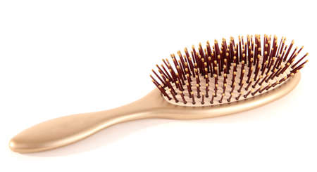 Hairbrush isolated on white photo