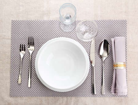 Table setting, close up photo