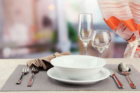 Table setting at restaurant Stock Photo - 17348466