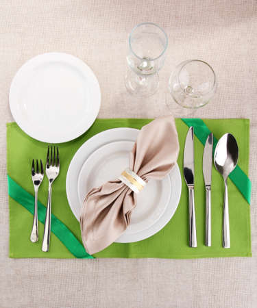 holiday table setting, close up Stock Photo - 17348240