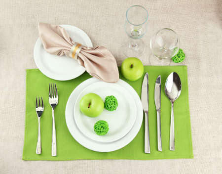 holiday table setting, close up Stock Photo - 17348216
