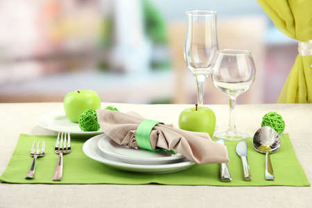 holiday table setting at restaurant Stock Photo - 17348476