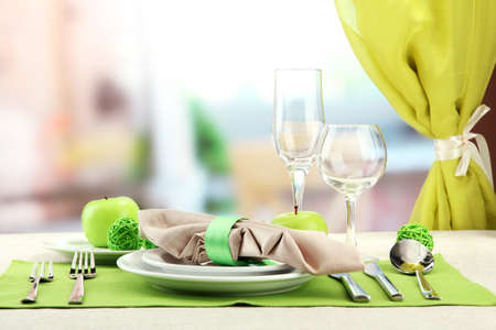holiday table setting at restaurant Stock Photo - 17348490