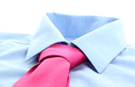 tie on shirt isolated on white Stock Photo - 17476988
