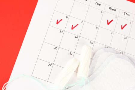 breathable: calendario mestruazioni con assorbenti e tamponi igienici, close-up