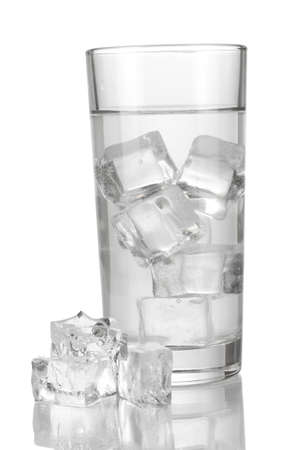 Ice cubes in glass isolated on white Stock Photo - 17516902