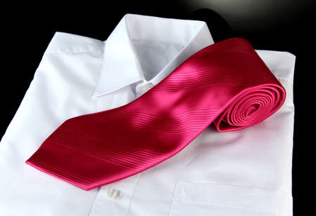 pink tie on grey background Stock Photo - 17656784