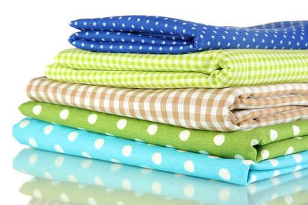 Color mottled fabrics isolated on white Reklamní fotografie