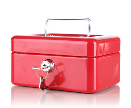 Closed red case isolated on white Stock Photo - 17662939