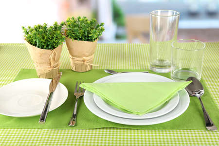 Table setting for breakfast photo & Table Setting For Breakfast Stock Photo Picture And Royalty Free ...