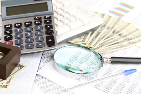 Financial information and money close-up Stock Photo - 17663435