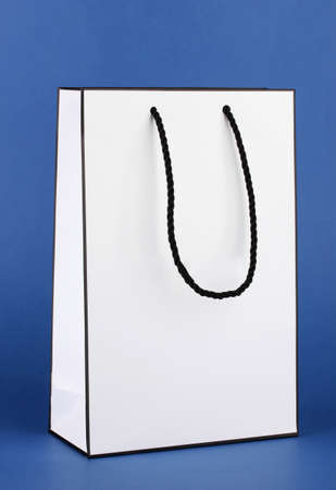 White shopping bag on color background Stock Photo - 17704497