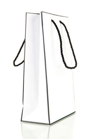White shopping bag isolated on white Stock Photo - 17704318