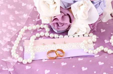 Conceptual photo: wedding in violet color style photo