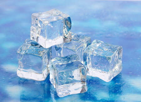 Ice on brightblue background Banco de Imagens - 17768872