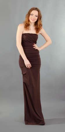 Beautiful professional female model resting between shots in photography studio shoot set-up Stock Photo - 18040207