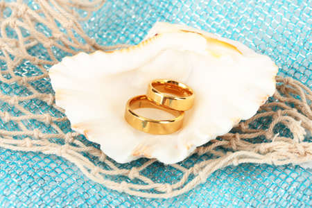 Conceptual photo: wedding in marine style photo