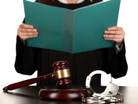 verdict: Judge read verdict on white background