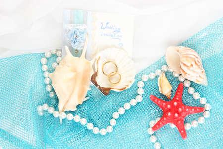 Conceptual photo: wedding in marine style