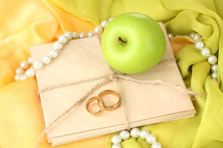 Conceptual photo wedding in apple style photo
