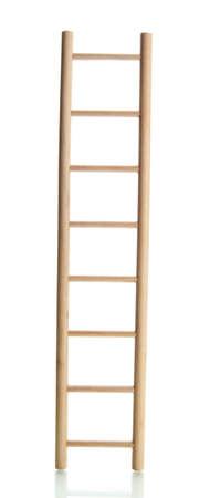 Holzleiter, isoliert auf weiß