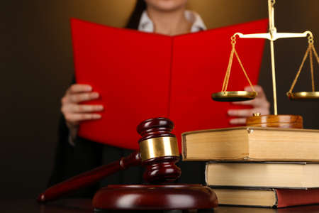 verdict: Judge read verdict on brown background