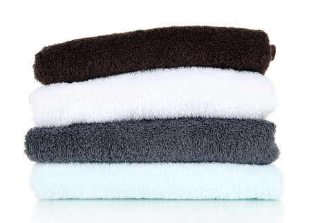 Bath towels isolated on white Stock Photo - 18185681