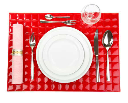 Table setting, close up photo